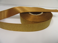 Gold 2 or 20 metres 25mm Glitter Christmas Satin Ribbon Xmas Roll Craft